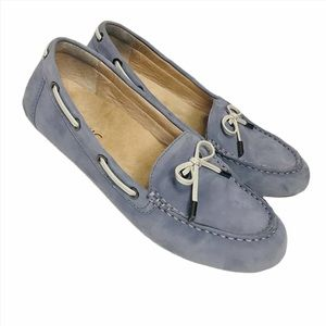 Vionic orthaheel Blue suede loafers